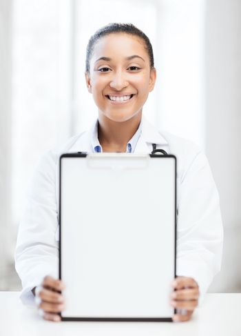 doctor with blank prescription