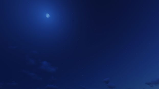 Beautiful clear night sky, the clouds are good.