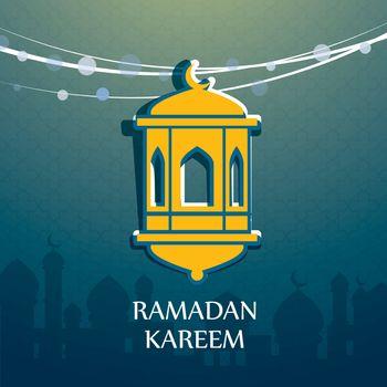 ramadan kareem hanging arabic lamp