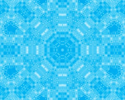 Abstract blue background with concentric pattern