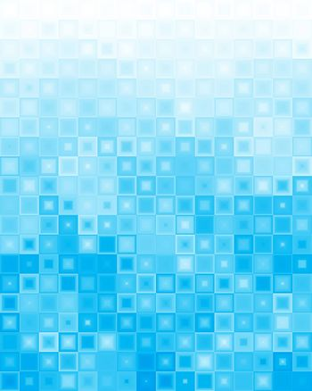 Abstract blue background of different squares