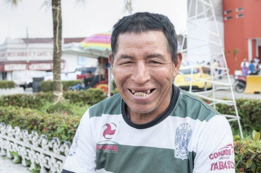 PICHUCALCO, MEXICO - DECEMBER 21, 2015: Tooth decay is a serious and common problem among the indiigenous populations in Mexico, as is evident in the smile of this indigenous man