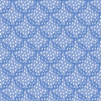 Vector Abstract Blue Pomegranate Texture Seamless Pattern graphic design