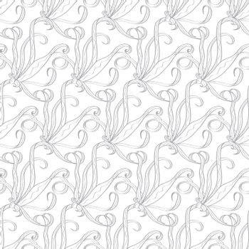 Vector Abstract Swirl Organic Texture-Stock Seamless Pattern graphic design