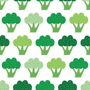 Vector Fun Broccoli Seamless Pattern graphic design