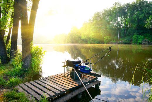 Fishing on river