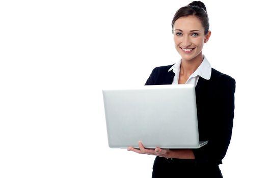 Laptop, it's my virtual office.