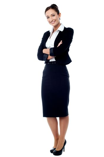Successful business woman with folded arms
