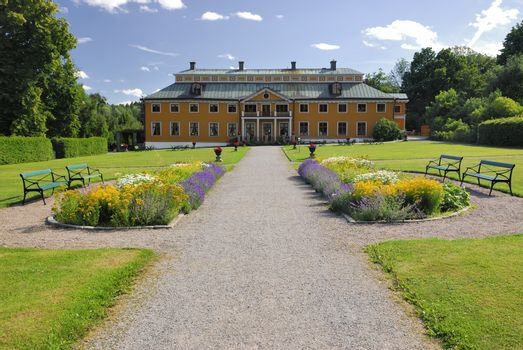 Ekebyhovs manor house in Sweden is one of Europe's oldest wooden castles, built by Field Marshall Carl Gustav Wrangel in the mid 1670s.