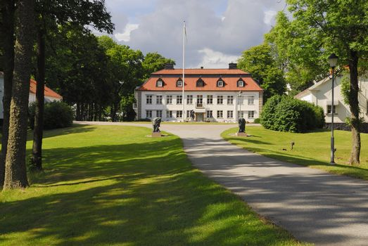 The palace of Skytteholm from the 16th century near Stockholm in Sweden.
