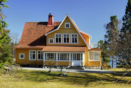 Scandinavian housing, Stockholm in Sweden.
