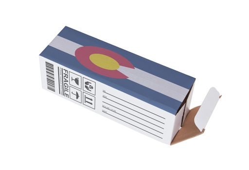 Concept of export - Product of Colorado