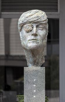 Sculpture dedicated to musician John Lennon in Vilnius, Lithuania