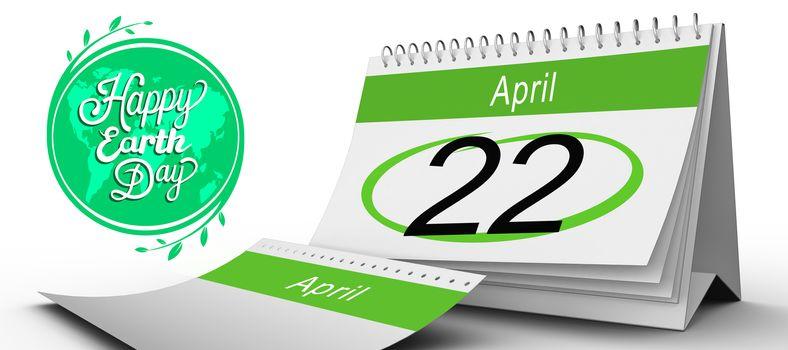 Composite image of april calendar