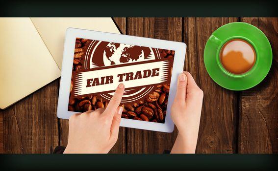 Composite image of fair trade