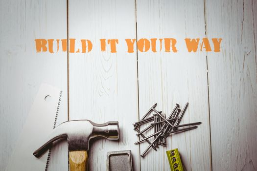 Build it your way against desk with tools
