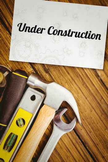 Under construction against white card