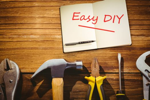 Easy diy against desk with tools