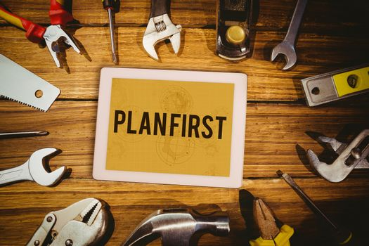 Plan first against architect background
