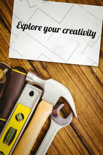Explore your creativity against white card