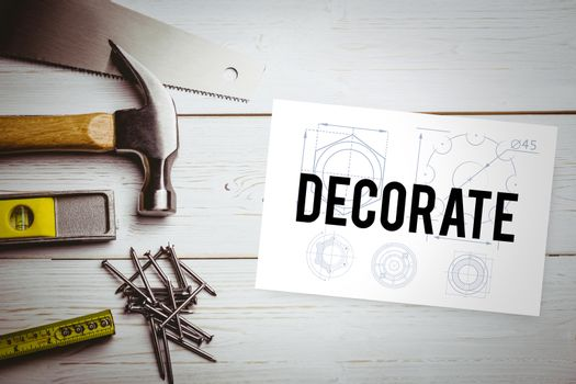 Decorate  against white card