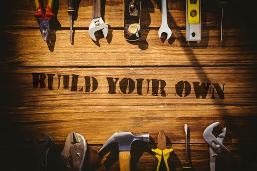 Build your own against desk with tools