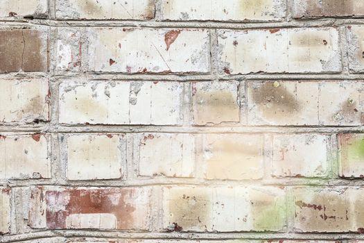 Grunge white background brick old texture wall