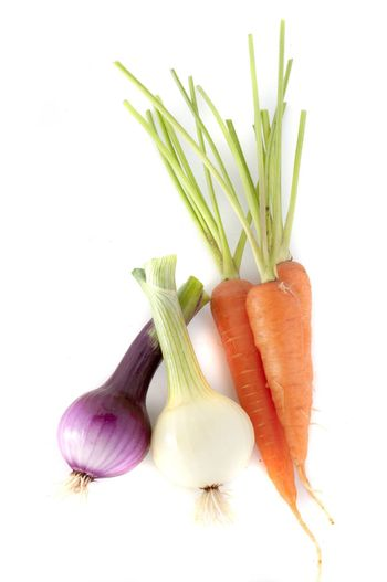Carrot and onion