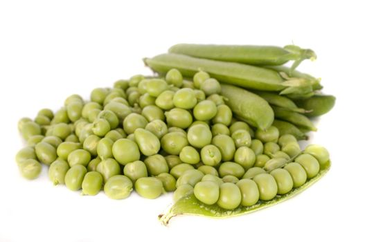 Green peas vegetable with seed closeup view