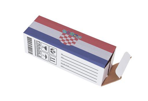 Concept of export - Product of Croatia