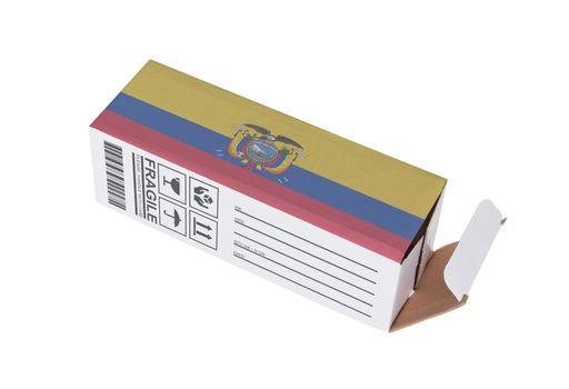 Concept of export - Product of Ecuador