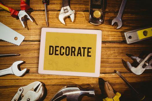 Decorate  against architect background