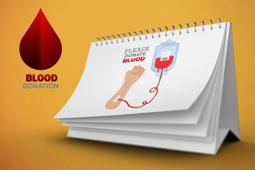 Composite image of please donate blood