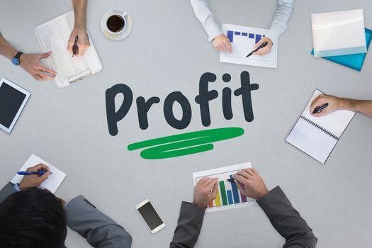 Profit against business meeting