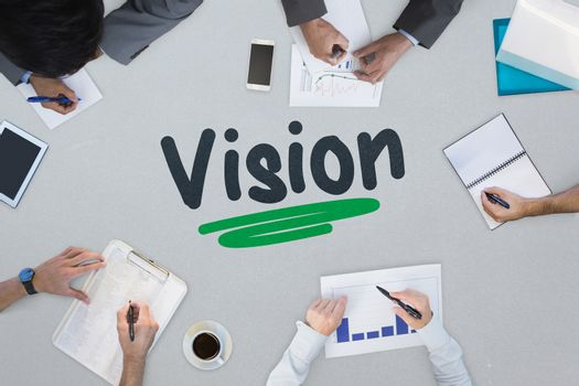 Vision against business meeting