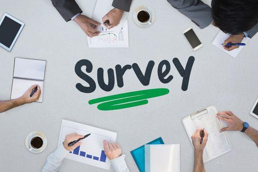 Survey against business meeting