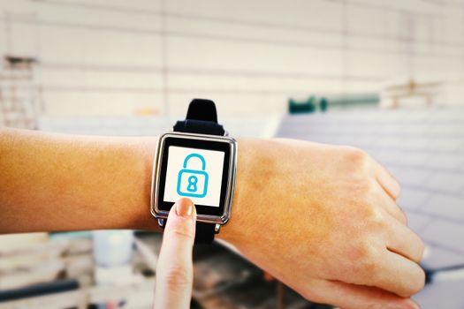 Composite image of smartwatch on wrist