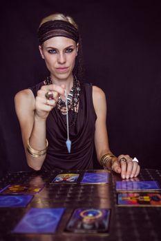 Fortune teller forecasting the future with pendulum