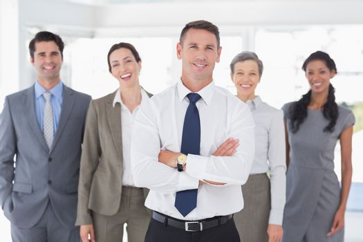 Business colleagues standing in a row