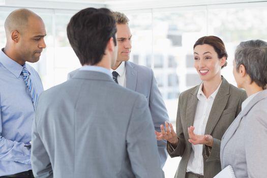 Business team having a conversation
