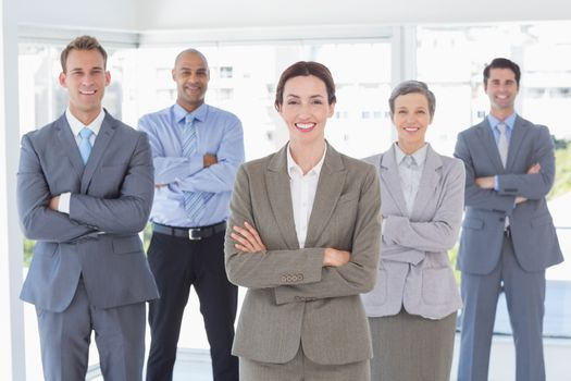 Business team smiling at camera