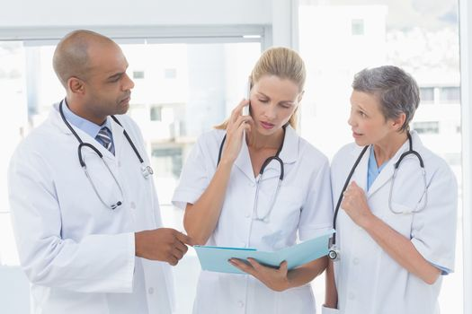 Doctors having an important phone call