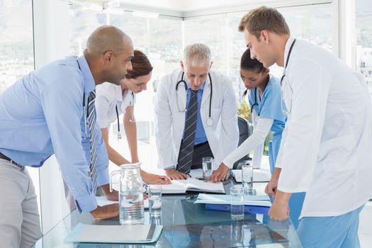 Team of doctors having a meeting