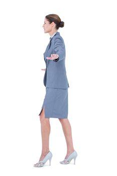 Businesswoman with high heels