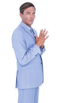 a thoughtful businessman