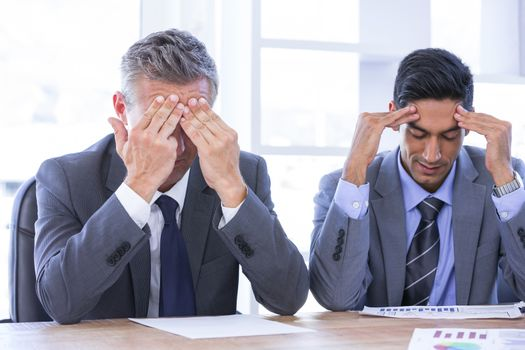 stressed businesspeople