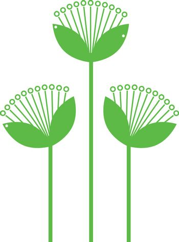 Beautiful simple Flowers line art isolated on white. Vector Illustration