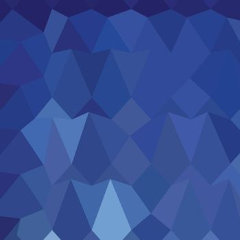 Low polygon style illustration of catalina blue abstract geometric background.