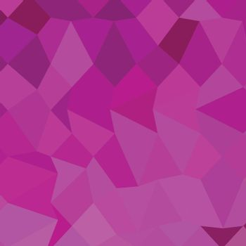 Low polygon style illustration of persian rose pink abstract geometric background.