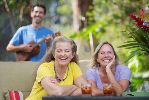 Laughing Women In Hawaii